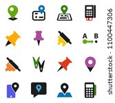 solid vector icon set  ... | Shutterstock .eps vector #1100447306