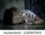 stop sexual abuse of women ... | Shutterstock . vector #1100447495