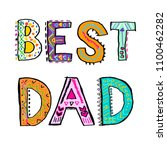 best dad. fathers day card....   Shutterstock .eps vector #1100462282