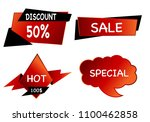 summer sale set isolated vector ... | Shutterstock .eps vector #1100462858