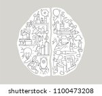 cartoon left and right brain... | Shutterstock .eps vector #1100473208