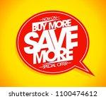 buy more save more speech... | Shutterstock .eps vector #1100474612