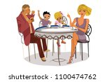 father and mother with their...   Shutterstock .eps vector #1100474762
