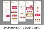 web page design vector. website ... | Shutterstock .eps vector #1100484848
