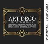 luxury vintage frame art deco... | Shutterstock .eps vector #1100490065