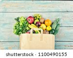 Healthy Food Background. Paper...