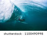 underwater view of the young... | Shutterstock . vector #1100490998