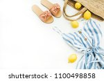 summer female fashion concept.... | Shutterstock . vector #1100498858