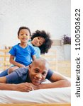 african american family of... | Shutterstock . vector #1100503622
