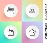modern  simple vector icon set...   Shutterstock .eps vector #1100505215