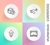 modern  simple vector icon set... | Shutterstock .eps vector #1100505332
