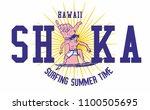 shaka surfer graphic design...   Shutterstock .eps vector #1100505695
