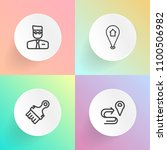 modern  simple vector icon set... | Shutterstock .eps vector #1100506982
