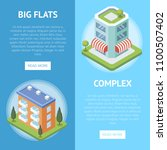 real estate complex with big... | Shutterstock .eps vector #1100507402