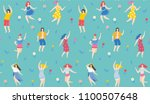 hello summer seamless pattern.... | Shutterstock .eps vector #1100507648