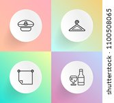 modern  simple vector icon set... | Shutterstock .eps vector #1100508065