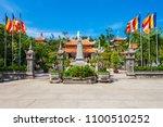 long son pagoda or chua long... | Shutterstock . vector #1100510252