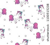 seamless pattern with unicorns  ... | Shutterstock .eps vector #1100515238