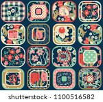 seamless abstract colorful... | Shutterstock .eps vector #1100516582