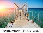 swimming ladder from stainless...   Shutterstock . vector #1100517302