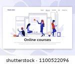 landing page template of online ...   Shutterstock .eps vector #1100522096