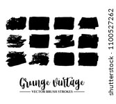 set of black brush stroke and... | Shutterstock .eps vector #1100527262