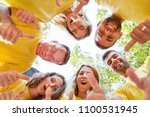 young team as a successful team ... | Shutterstock . vector #1100531945