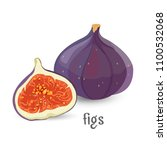 figs whole and cut healthy... | Shutterstock .eps vector #1100532068