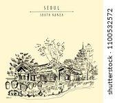 seoul  south korea  asia. old...   Shutterstock .eps vector #1100532572