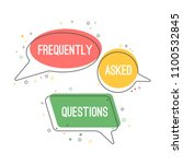 frequently asked questions... | Shutterstock .eps vector #1100532845