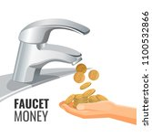 faucet money promo banner with...   Shutterstock .eps vector #1100532866