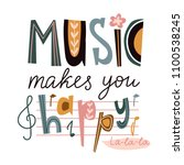 bright music poster design or... | Shutterstock .eps vector #1100538245