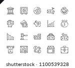 simple set finance line icons...   Shutterstock .eps vector #1100539328