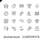 simple set soccer line icons... | Shutterstock .eps vector #1100539376