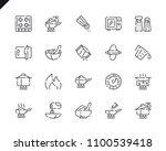 simple set cooking line icons... | Shutterstock .eps vector #1100539418