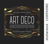 luxury vintage frame art deco... | Shutterstock .eps vector #1100542082