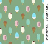 colorful vector seamless... | Shutterstock .eps vector #1100545358