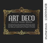 luxury vintage frame art deco... | Shutterstock .eps vector #1100545658