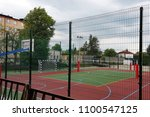 modern basketball court in the... | Shutterstock . vector #1100547125