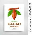 cocoa packaging design template.... | Shutterstock .eps vector #1100548022