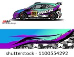 car livery graphic vector.... | Shutterstock .eps vector #1100554292