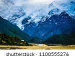 landscape of mount cook at... | Shutterstock . vector #1100555276