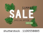 summer sale banner with... | Shutterstock .eps vector #1100558885