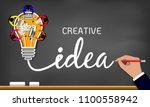 creative idea. inspiration... | Shutterstock .eps vector #1100558942