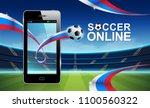 live football and soccer online ... | Shutterstock .eps vector #1100560322