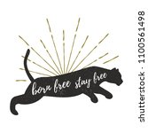 puma logo template with text... | Shutterstock . vector #1100561498