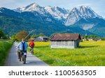 garmisch partenkirchen bavaria... | Shutterstock . vector #1100563505