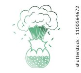 icon explosion of chemistry... | Shutterstock .eps vector #1100564672