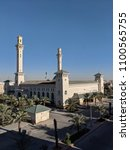 king sultan bin fahad mosque ... | Shutterstock . vector #1100565755