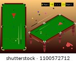 snooker isometric playground... | Shutterstock .eps vector #1100572712